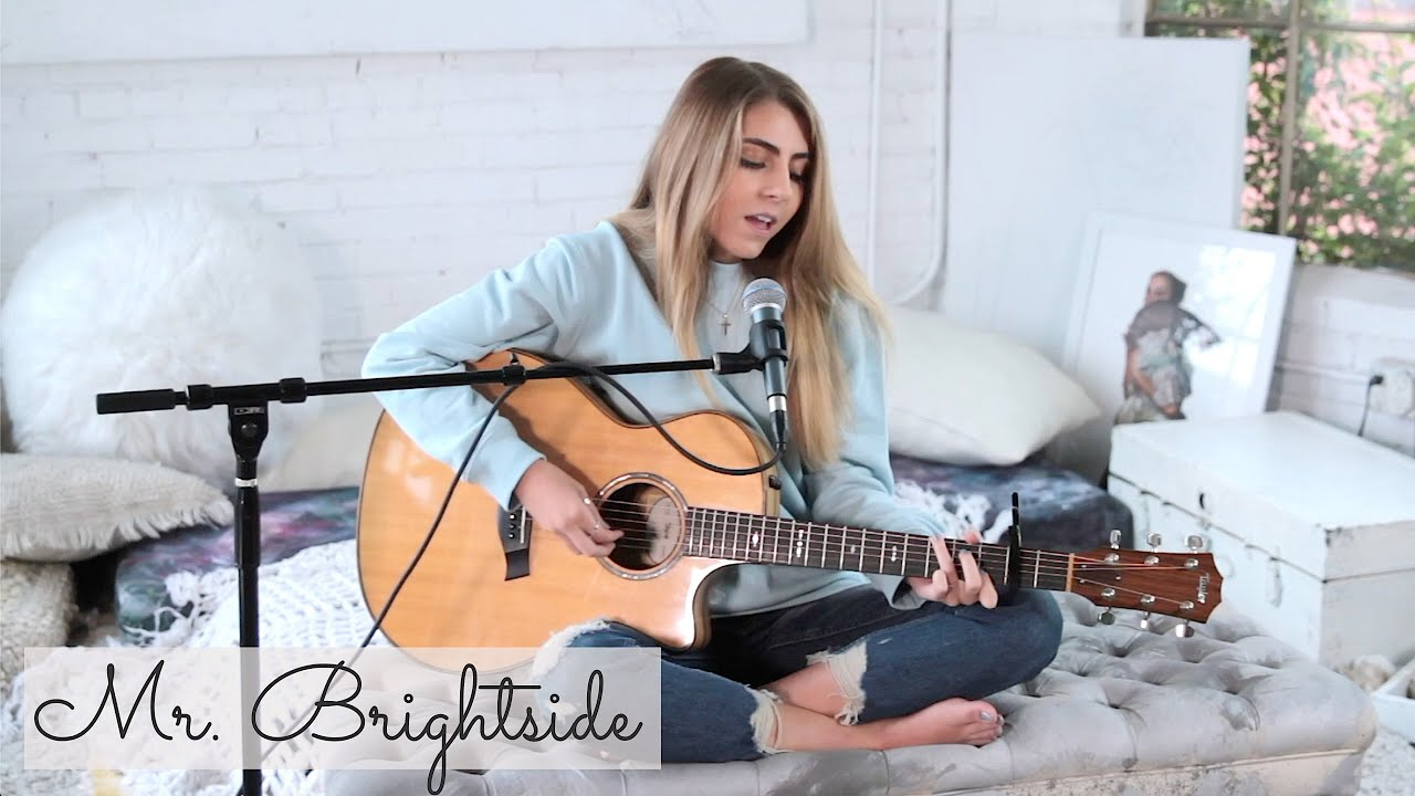 Mr. Brightside by The Killers   acoustic cover by Jada Facer ...