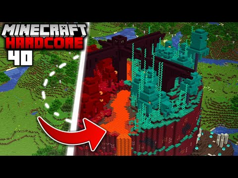 I Transformed the OVERWORLD into the NETHER in Minecraft Hardcore (#40)