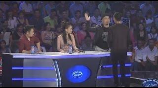 SỐC vì nhạc sĩ Huy Tuấn thẳng tay tát thí sinh trên sóng truyền hình trực tiếp VTV3