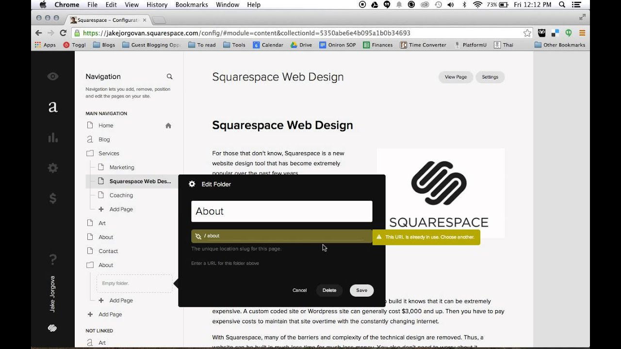 How to Create drop Down Menus in squarespace - YouTube