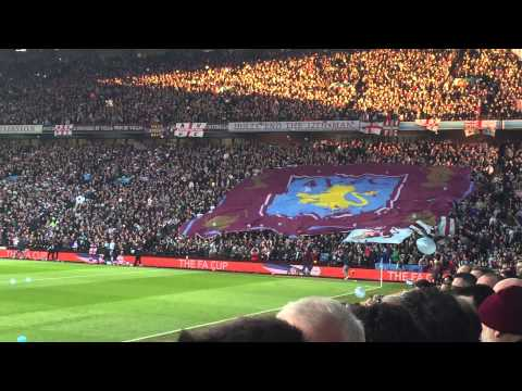 The Holte End at Villa Park before the FA Cup QF against WBA
