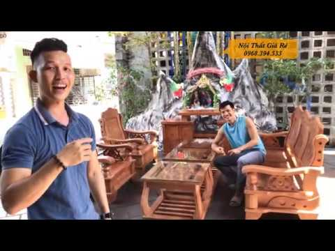 #noithatgiare Báo giá mẫu bàn ghế phòng khách chất liệu gỗ sồi