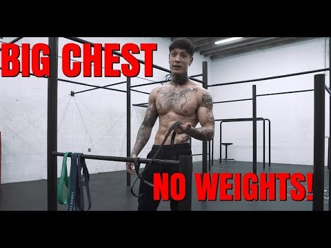 How To Get A BIGGER CHEST Without Weights | THENX