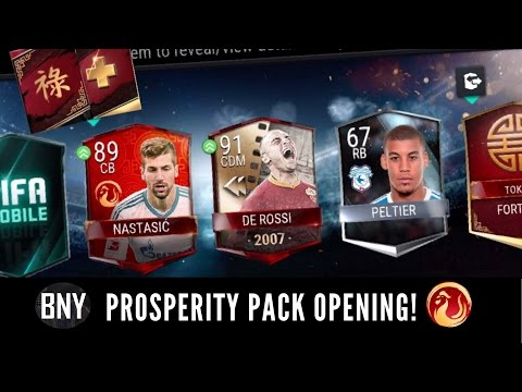 FIFA MOBILE PROSPERITY PACK OPENING WITH SICK 91 OVR UFB PULL IN PROSPERITY LARGE BUNDLE!