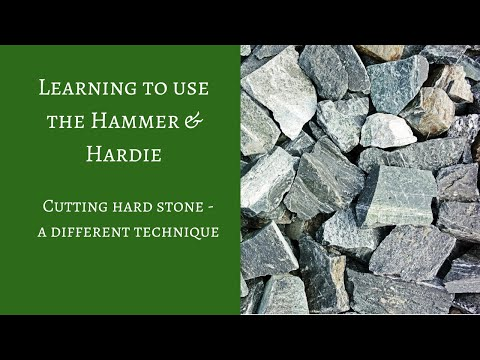 Cutting hard stones with the Roman mosaic hammer and hardie