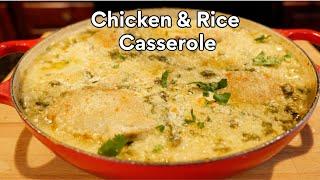 Chicken rice casserole Mexican Rajas Style