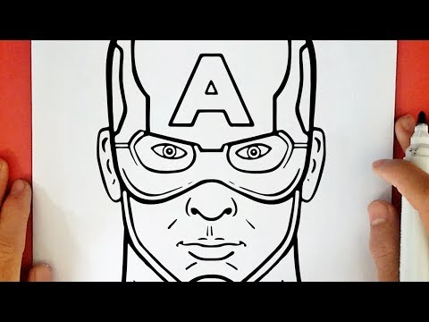 Coloriage Facile Captain America.Comment Dessiner Captain America Youtube