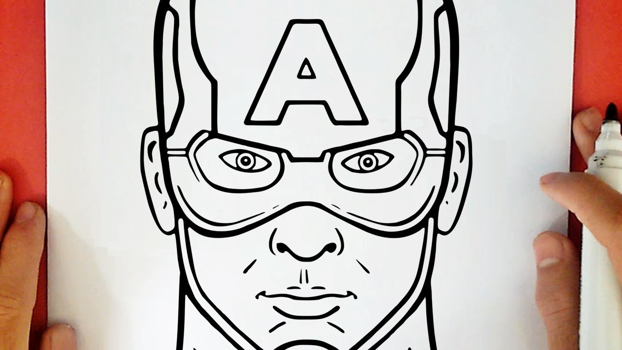 COMMENT DESSINER CAPTAIN AMERICA
