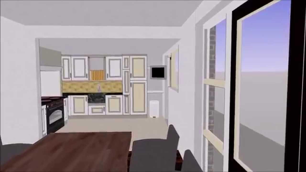 Ontwerp nieuwe situatie kamer keuken   youtube