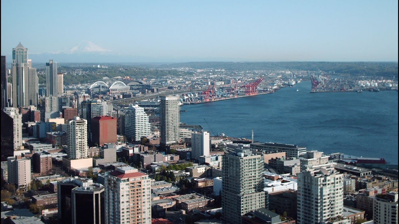 View From Top Of Space Needle Seattle 🇺🇸 Washington Travel