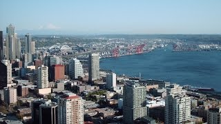 View from Top of Space Needle Seattle Washington Travel Video USA