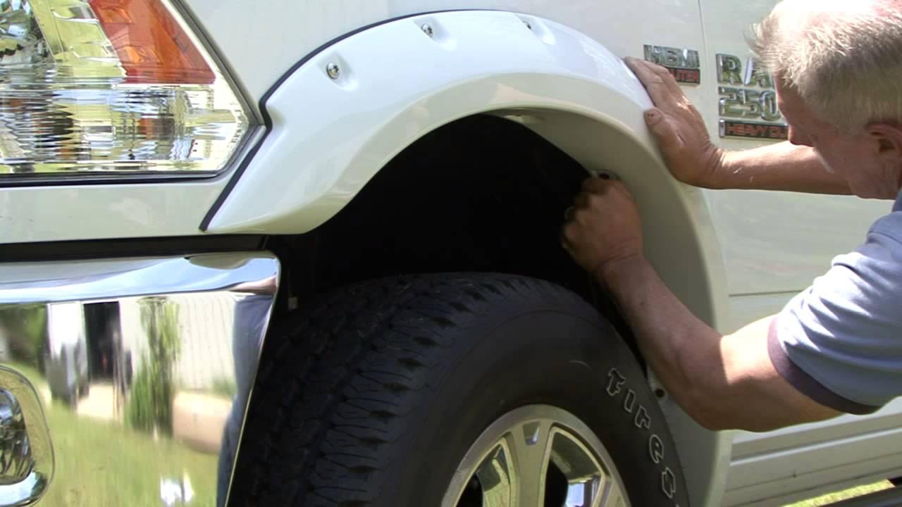Bushwacker Ram Truck Fender Flare Installation Youtube