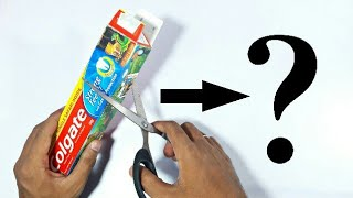 Best Out Of Waste Colgate Box Craft Idea | Toothpaste Box Craft | Reuse Toothpaste Box | Basic Craft
