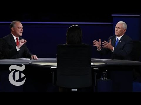 Pence and Kaine in Vice-Presidential Debate | Election 2016 | The New York Times