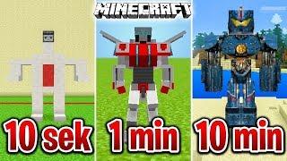 Minecraft BUDUJĘ ROBOTA W 10 SEKUND, 1 MINUTĘ I 10 MINUT!
