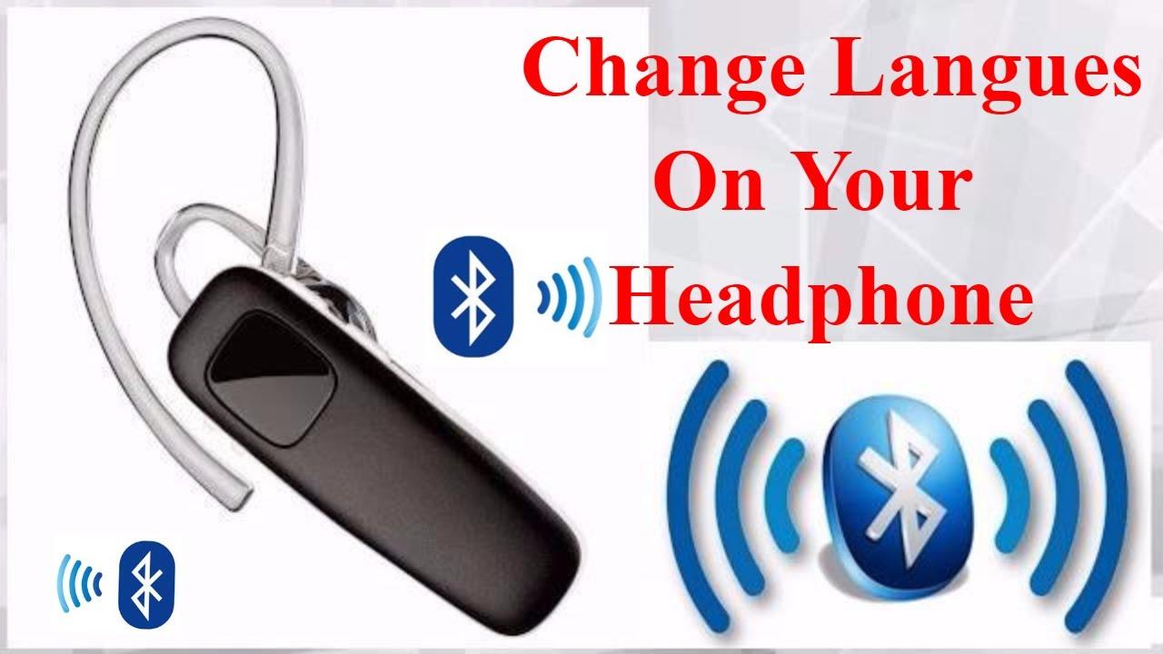924ad6ee231 How to change langues bluetooth headphones - YouTube