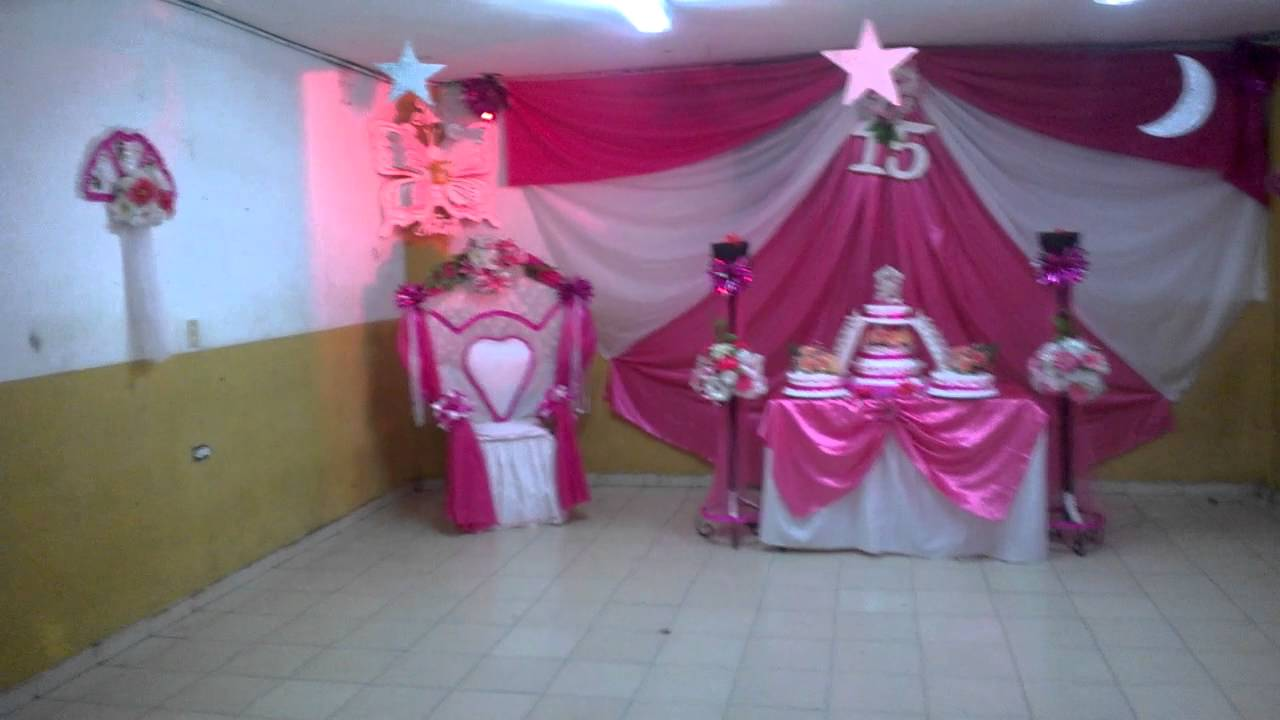 Decoraci n para 15 a os youtube for Decoracion quince anos