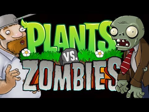 PLANTS VERSUS ZOMBIES - OMG THEY ARE ON MY ROOF NOW???   PLAYING THE FIRST 5 LEVELS OF THE ROOFTOP