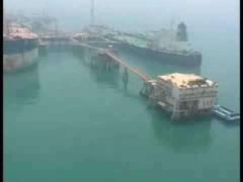 Aerial Footage of Al Basra Oil Terminal