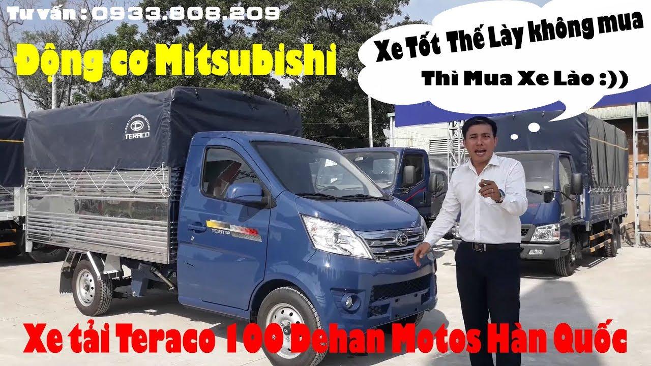 Review Xe Tải Hàn Quốc Teraco 100 Thùng Mui Bạt máy Mitsubisi | Phần 2 |  Xe tải dưới 1 tấn - YouTube