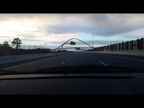 Auckland SH1, SH16, SH20 drive thru - Featuring the new Waterview Tunnel - Part 1