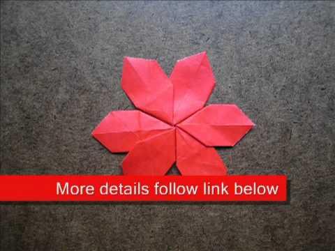 Paper Folding Origami Poinsettia Youtube