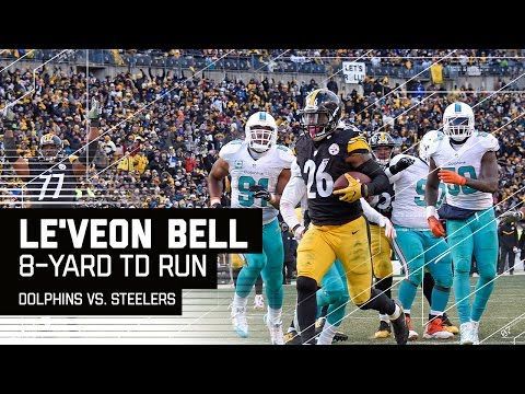 Shazier INT Sets Up Le'Veon Bell Touchdown Run! | Dolphins vs. Steelers | NFL Wild Card Highlights