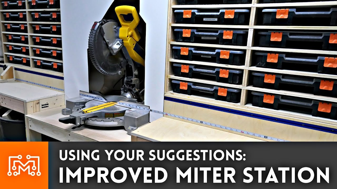 using your suggestions to improve the miter saw station youtube
