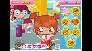 Игры для девочек: Обмани Учительницу Игровая площадка School Yard Slacking