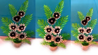 paper flowers tree / decoration flower tree / how to make paper flowers tree