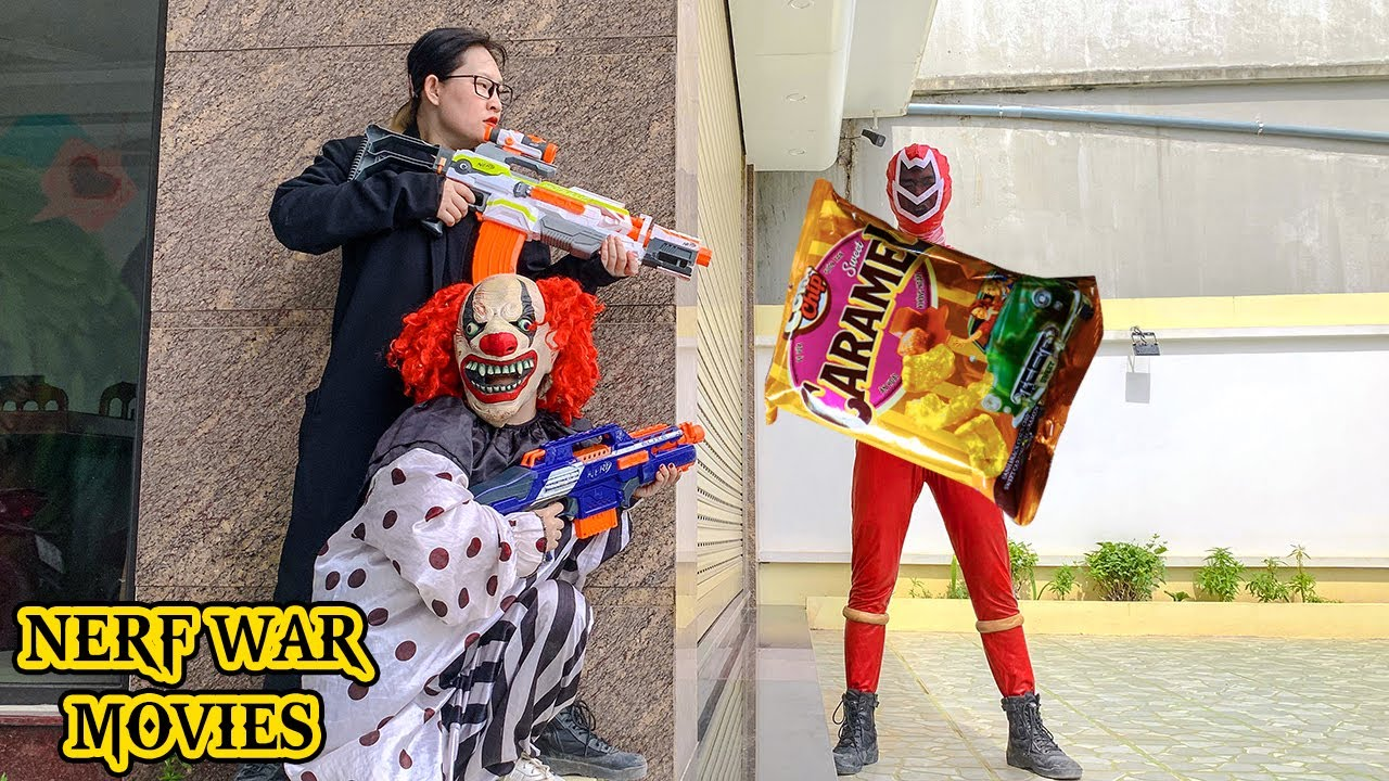 Nerf War Movies: Spider X Warriors Nerf Guns Fight Crime Group Two Reckless Thieves