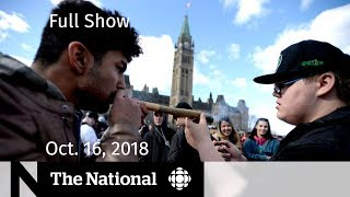 The National for Tuesday, October 16, 2018 — Cannabis Eve, Solitary Confinement, National Ballet