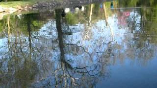 spring evening at Scotland, PA pond