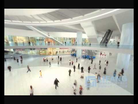Lifang Architectural 3D Animation for a Space Age New Railway Station Visualisation