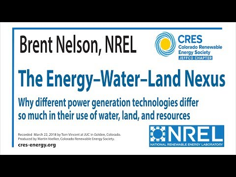 The Energy-Water-Land Nexus. Brent Nelson, NREL
