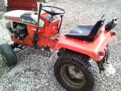 I Walk Around My Gardentractor Simplicity 7016 System