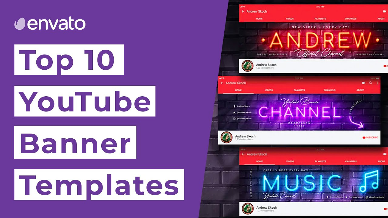 Learn the right size and resolution for youtube channel banners and. Top 10 Youtube Banner Templates 2020 Youtube