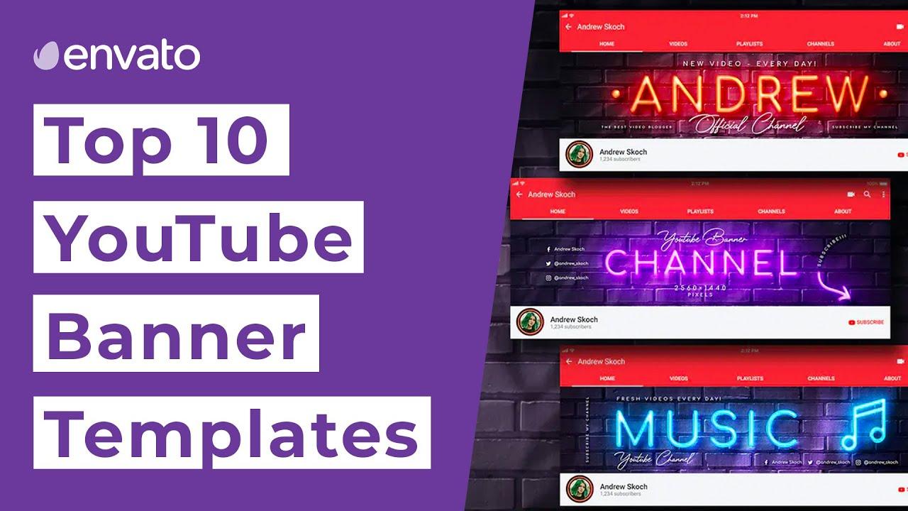 50 Creative Youtube Banner Templates