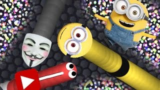 MINIONS IN SLITHER.IO MOD!! - Brand New Minion Skin - Biggest/Longest Snake - Top Player(Funny Bits)
