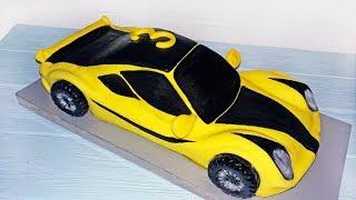 Машина Феррари Сборка и Оформление Торта Мастикой \ Cake Ferrari Car