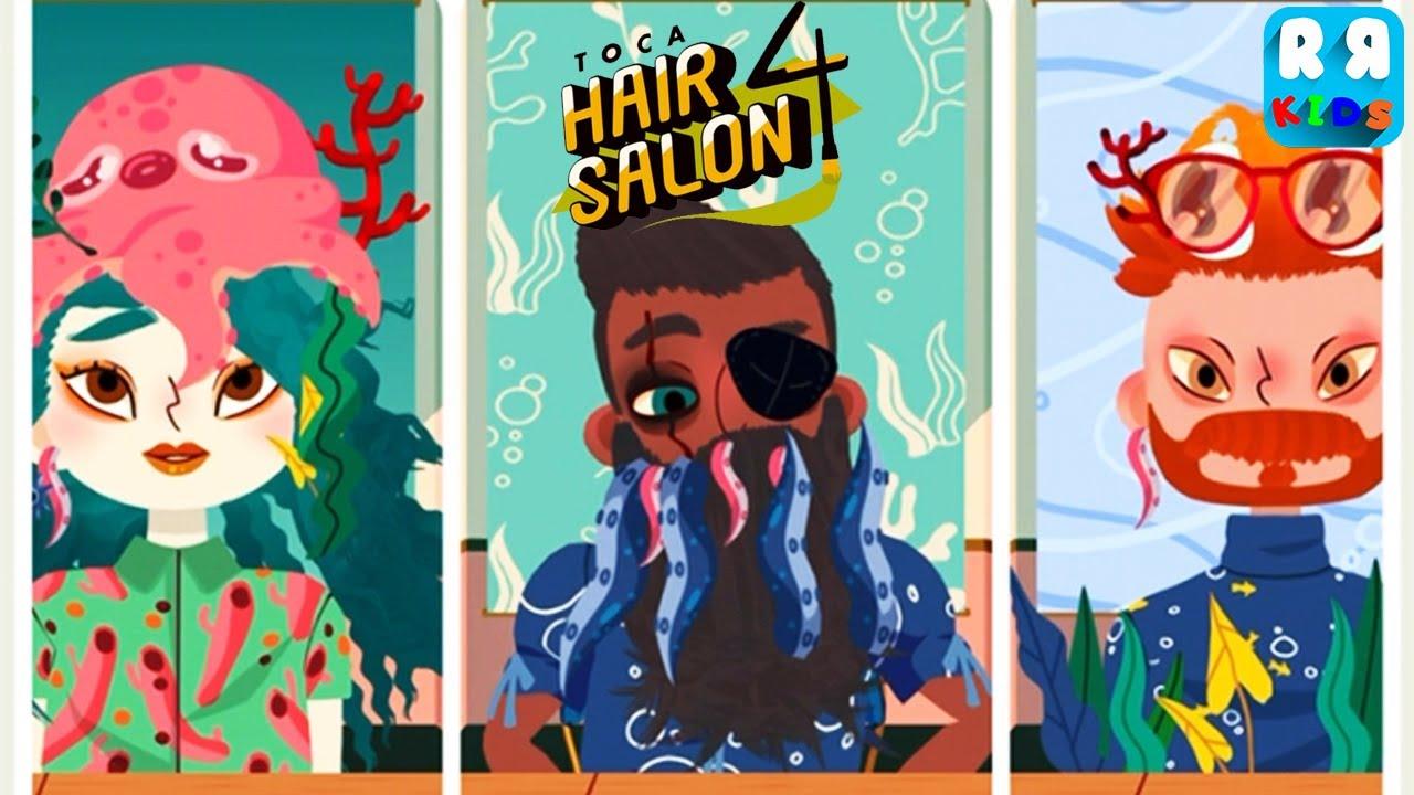 Toca Hair Salon 4 Best App For Kids Unlocked Underwater Pack Youtube