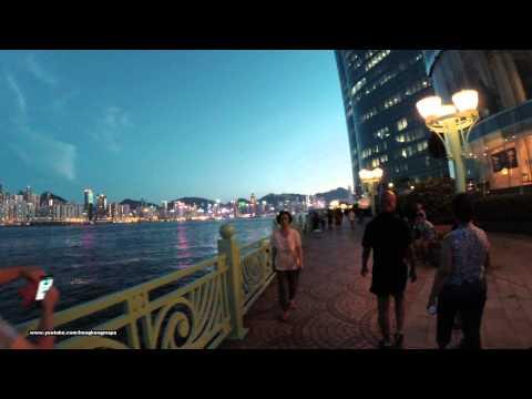 【Hong Kong Night Walk】Hung Hom Harbourfront (Westbound)
