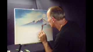 Oil Paint a Winter Moon and  Snowcap Mountains Volume 2 Lesson # 44