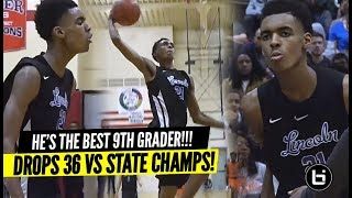 "DON'T Chant ""OVERRATED"" To the #1 9th Grader!! Emoni Bates Drops 36 Points vs STATE CHAMPS!!"