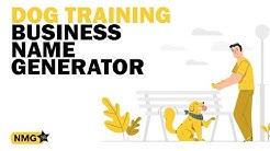 Best Dog Training Business Name Ideas ‐ Dog Training Business Name Generator