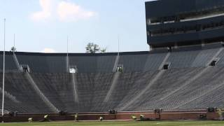 Video: Bush Turf removes grass playing surface from Michigan Stadium