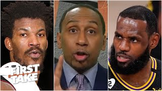 Jimmy Butler gave it to LeBron, while talking smack to him! - Stephen A. | First Take