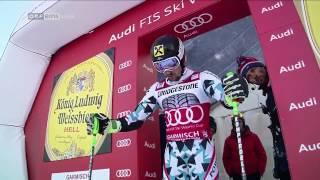 Marcel Hirscher - WINS GIANT SLALOM Garmisch 2017, 2.DG, -1.50 sec,