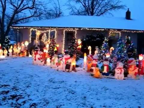 outdoor christmas display 2012 - Blow Mold Christmas Decorations Outdoor