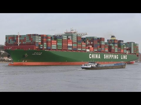 CSCL GLOBE / ex. Largest Container Ship in the World / Hamburg 2015